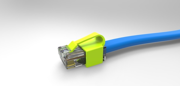 Solidworks rendering of the RJClip