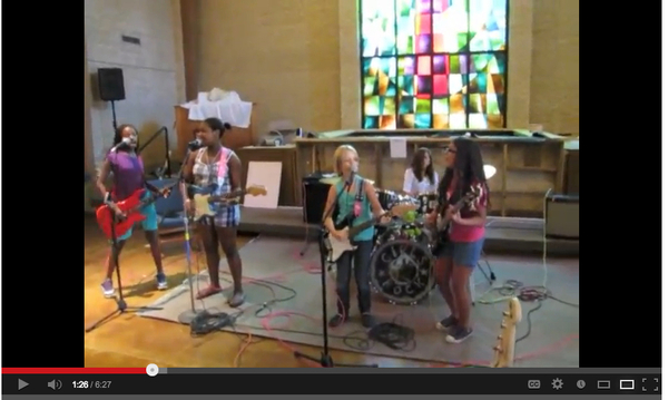 link to video on Girls Rock Camp