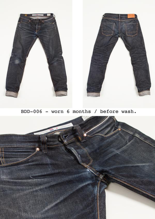 BDD-006 worn 6 months / before wash