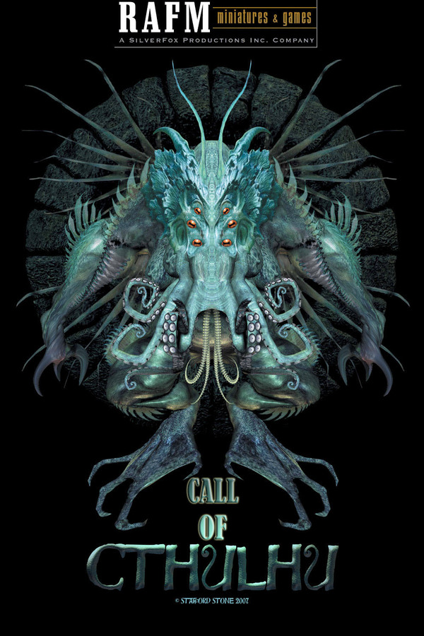 Blister card art for the new RAFM Call of Cthulhu Miniatures Line