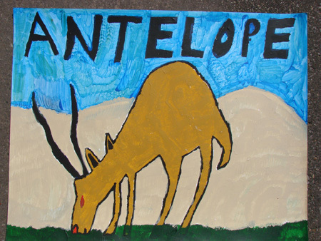 """Antelope"" by Louis O'Coffey, one of the paintings available as a desktop wallpaper for a $25 donation."