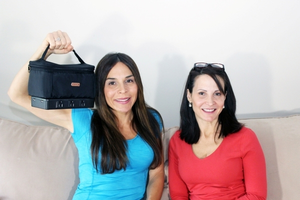 Jeannie and Laura with Bag