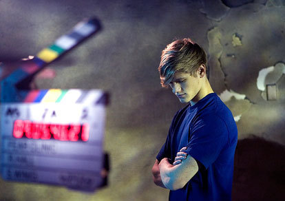 Lucas Till during production of Fear Clinic Web Series