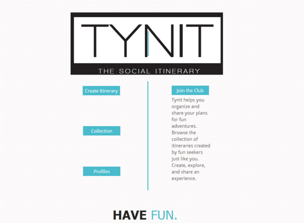 tynit com the social itinerary indiegogo