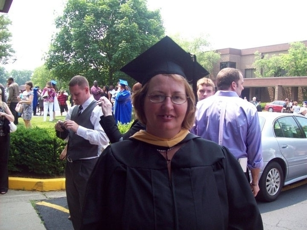 LuAnne Yandow on Graduation Day from MSW at Spalding University
