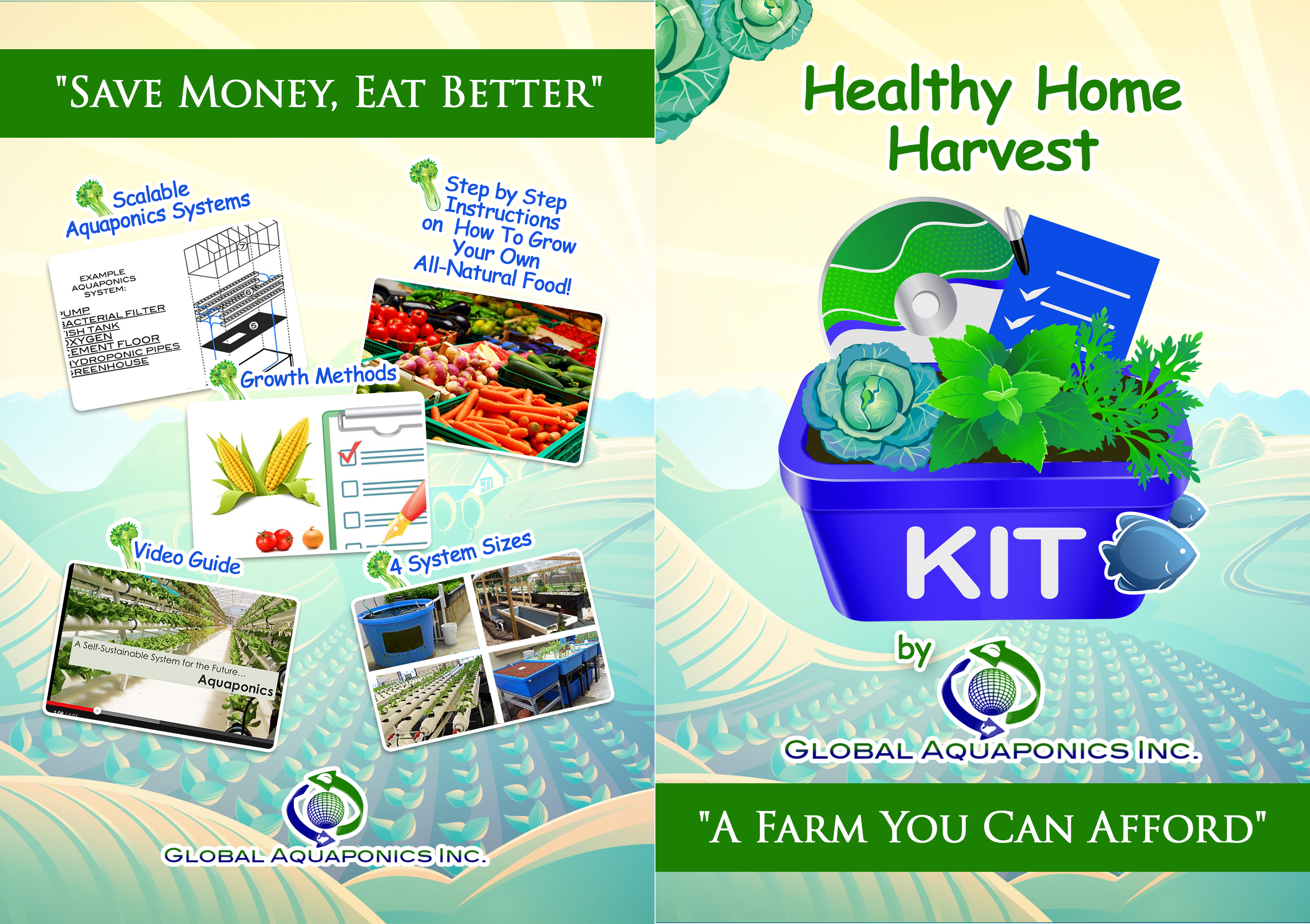 Healthy Home Harvest Kit for Backyard & Community Aquaponics