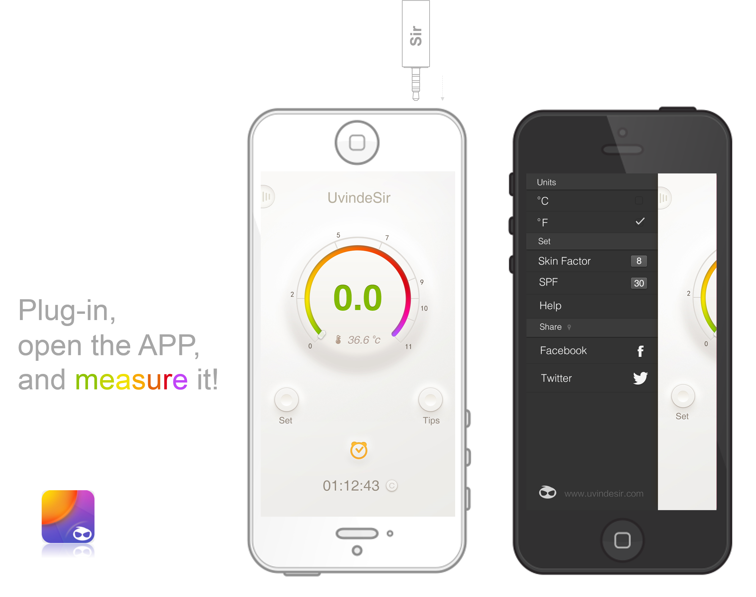 UVindeSir: The Tiny UV Index Meter for iPhone and Android
