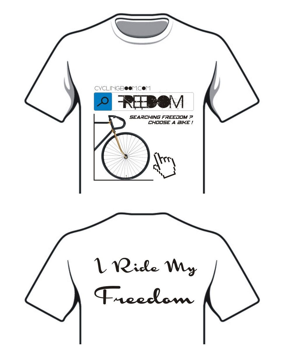 T-Shirt Cyclingboom Searching for freedom, I Ride My Freedom