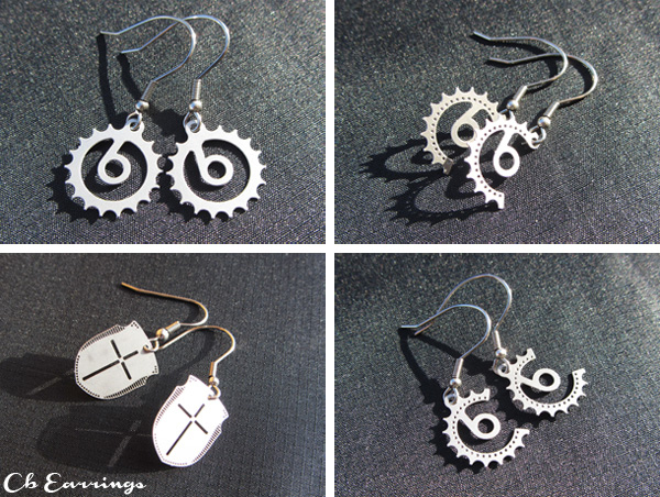 Cyclingboom bicycle inspired earrings