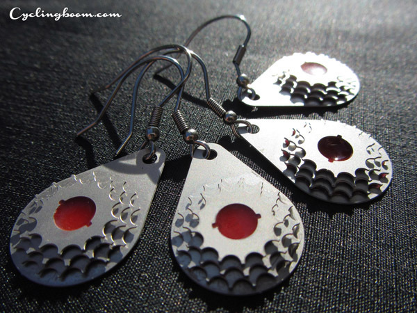 Earrings inspired by Bicycle gears