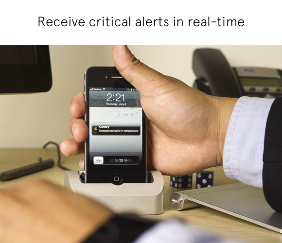Receive critical alerts in real-time